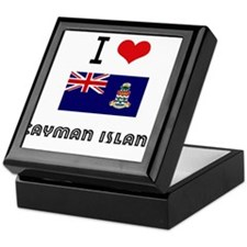 I HEART CAYMAN ISLAND FLAG Keepsake Box