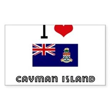 I HEART CAYMAN ISLAND FLAG Decal