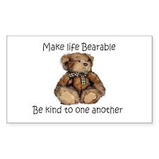 Make life bearable Decal