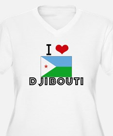 I HEART DJIBOUTI FLAG Plus Size T-Shirt