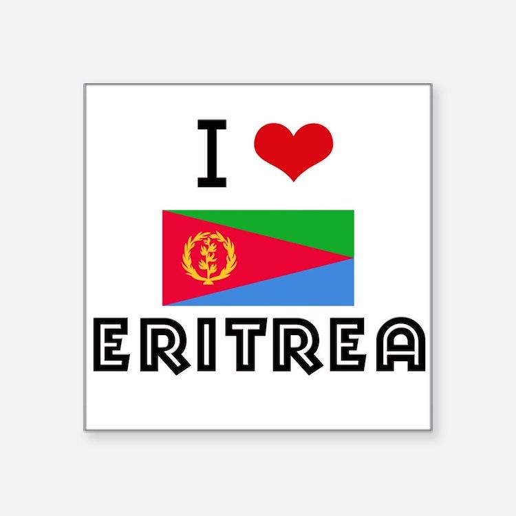 I HEART ERITREA FLAG Sticker
