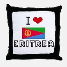 I HEART ERITREA FLAG Throw Pillow