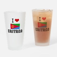 I HEART ERITREA FLAG Drinking Glass