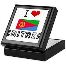 I HEART ERITREA FLAG Keepsake Box