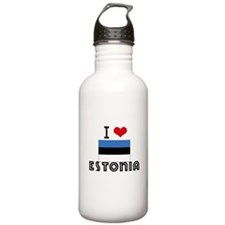 I HEART ESTONIA FLAG Water Bottle