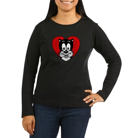 I Love Cats Women's Long Sleeve Dark T-Shirt