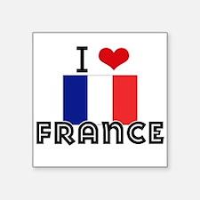 I HEART FRANCE FLAG Sticker