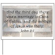 John 2:1 Yard Sign