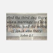 John 2:1 Rectangle Magnet