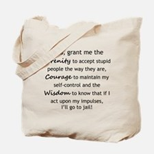 Sarcastic Serenity Prayer 02 Tote Bag