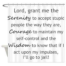 Sarcastic Serenity Prayer 02 Shower Curtain