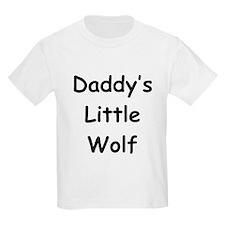Daddy's Little Wolf Kids T-Shirt