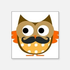 Mustachioed Owl Sticker