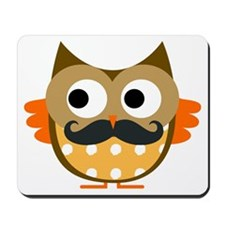 Mustachioed Owl Mousepad