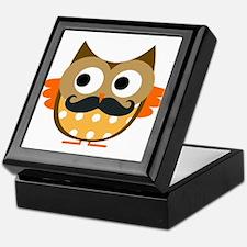 Mustachioed Owl Keepsake Box