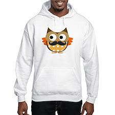 Mustachioed Owl Hoodie