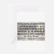 Titus 3:5 Greeting Card