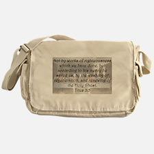 Titus 3:5 Messenger Bag