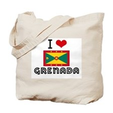 I HEART GRENADA FLAG Tote Bag