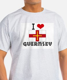 I HEART GUERNSEY FLAG T-Shirt