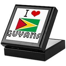 I HEART GUYANA FLAG Keepsake Box