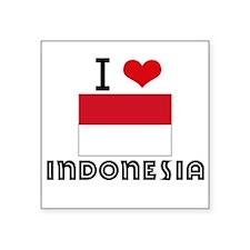 I HEART INDONESIA FLAG Sticker