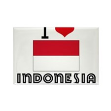 I HEART INDONESIA FLAG Rectangle Magnet