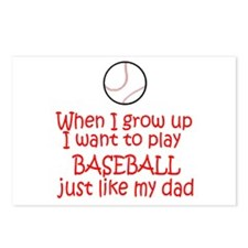 Baseball...just like DAD Postcards (Package of 8)