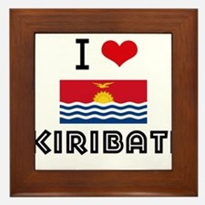 I HEART KIRIBATI FLAG Framed Tile