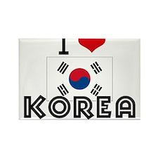 I HEART KOREA FLAG Rectangle Magnet