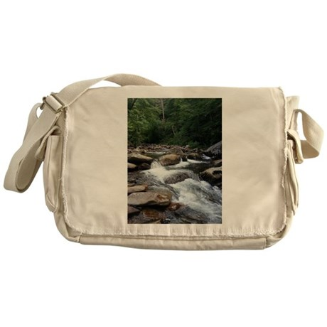 A Creek In The Smokey Mountains Messenger Bag