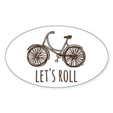 "Bicycle ""Let's Roll"" Decal"