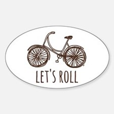 "Bicycle ""Let's Roll"" Sticker (Oval)"