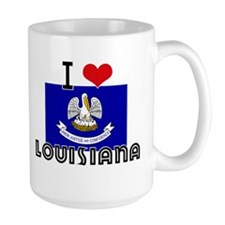 I HEART LOUISIANA FLAG Mug