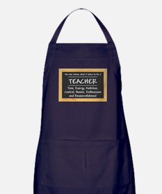 What it takes to be a Teacher Apron (dark)
