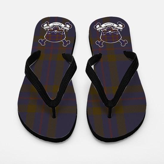 Elliot Tartan Skull Flip Flops