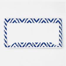 Chevron / Sawtooth Pattern License Plate Holder