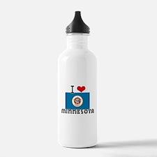 I HEART MINNESOTA FLAG Water Bottle