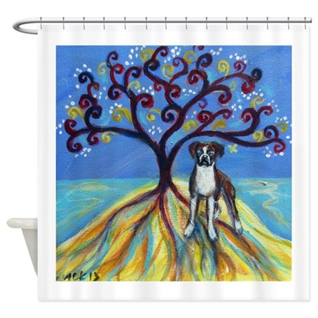 Boxer spiritual love tree shower curtain by petartbyangie for Spiritual shower