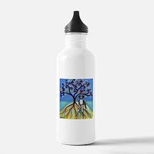Boxer Spiritual Love Tree Water Bottle