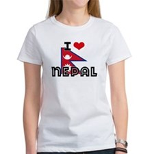 I HEART NEPAL FLAG T-Shirt