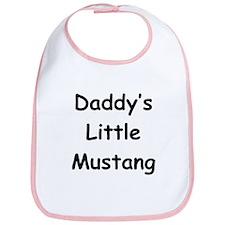 Daddy's Little Mustang Bib