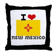 I HEART NEW MEXICO FLAG Throw Pillow