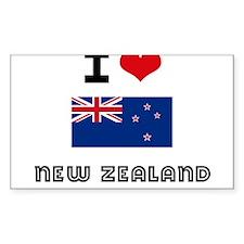 I HEART NEW ZEALAND FLAG Decal