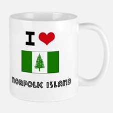 I HEART NORFOLK ISLAND FLAG Mug