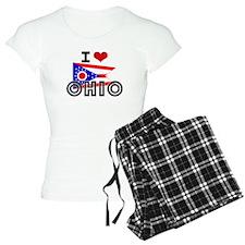 I HEART OHIO FLAG Pajamas
