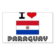 I HEART PARAGUAY FLAG Decal