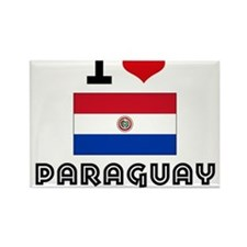 I HEART PARAGUAY FLAG Rectangle Magnet