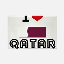 I HEART QATAR FLAG Rectangle Magnet