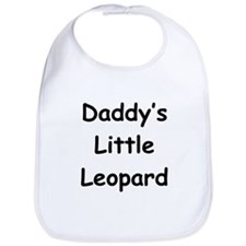 Daddy's Little Leopard Bib